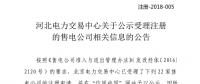 河北《关于公示受理注册的售电公司相关信息的公告》 公示22家售电公司