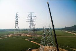 北京东破口并网施工 特高压接入首都电网
