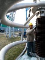 淮盱Ⅰ线C相避雷器和压变检修工作