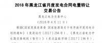 2018年黑龙江省月度发电合同电量转让交易即将展开
