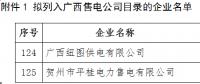 广西公示2家售电公司