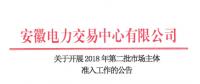 安徽2018年第二批市场主体准入工作展开