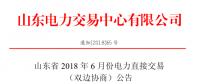 山东省2018年6月份双边协商交易25日展开(附名单)