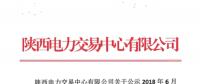 陕西公示6家售电公司以及1家申请变更注册信息的售电公司