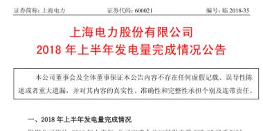 国家电投旗下上海电力上半年经营成绩单出炉:完成发电量237.85亿千瓦时