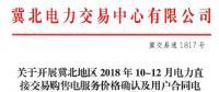 冀北开展10-12月电力直接交易购售电服务价格确认及用户合同电量填报