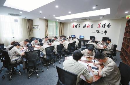 泰州电厂党员学习室。