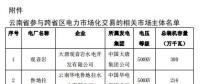 2018年11月云南送广东月度增量挂牌交易:广东侧落地电量(交易关口)8.5亿千瓦时