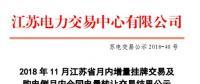 江苏11月月内增量交易及购电侧月内合同电量转让交易结果