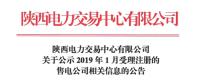 陕西2019年1月8家售电公司公示名单