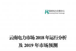 云南电力市场2018年运行分析及2019年市场预测