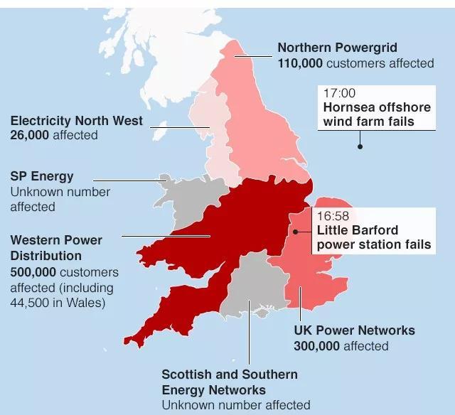 """英国""""2019•8•9""""大停电事故分析报告"""