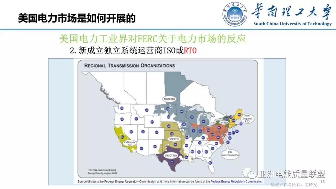 美国电力市场发展和市场运行方法