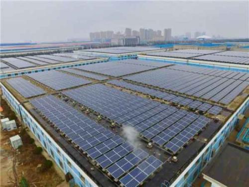 国内最大自发自用平价上网的屋顶分布式光伏项目全额并网