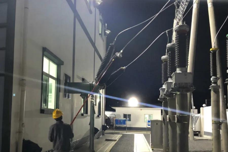 禄丰配售电公司110kV碧城园区输变电项目通电运行